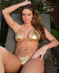 Gold Bikini big boobs camel toe hot babe